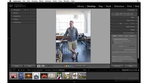 Improving an environmental portrait with Upright: Lightroom 5 Essentials: 04 Develop Module Advanced Techniques