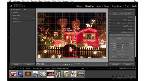 Correcting fish-eye distortion: Lightroom 5 Essentials: 04 Develop Module Advanced Techniques