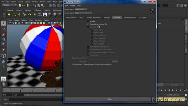 V-Ray integration with the Maya UI: Learning V-Ray for Maya: A Professional Reference Guide