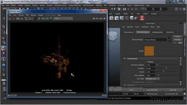 V-Ray Sun and Sky: Learning V-Ray for Maya: A Professional Reference Guide