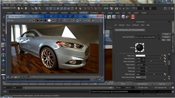 The V-Ray Car Paint material: Learning V-Ray for Maya: A Professional Reference Guide