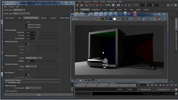 Primary and secondary bounces: Learning V-Ray for Maya: A Professional Reference Guide