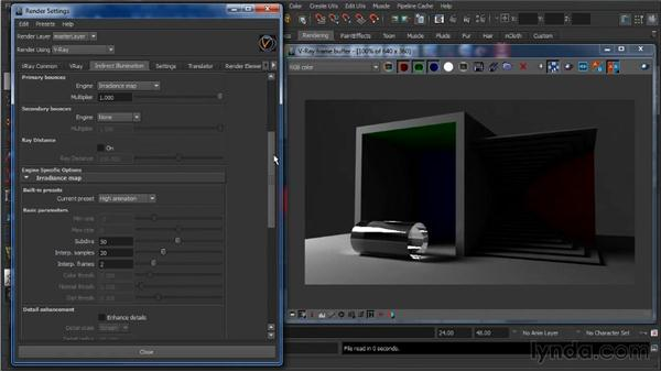 Irradiance mapping: Learning V-Ray for Maya: A Professional Reference Guide