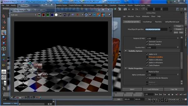 Setting VROP overrides with Maya layers: Learning V-Ray for Maya: A Professional Reference Guide