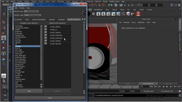 Creating passes and elements: Learning V-Ray for Maya: A Professional Reference Guide