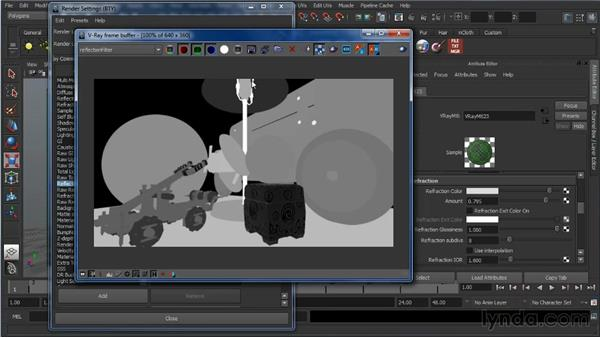 Diffuse, reflection, and refraction: Learning V-Ray for Maya: A Professional Reference Guide
