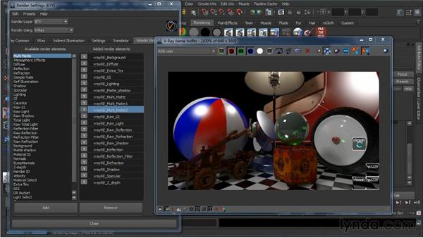 The Multi Matte render element: Learning V-Ray for Maya: A Professional Reference Guide