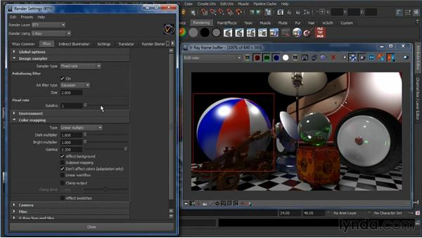 Sampling settings: Learning V-Ray for Maya: A Professional Reference Guide