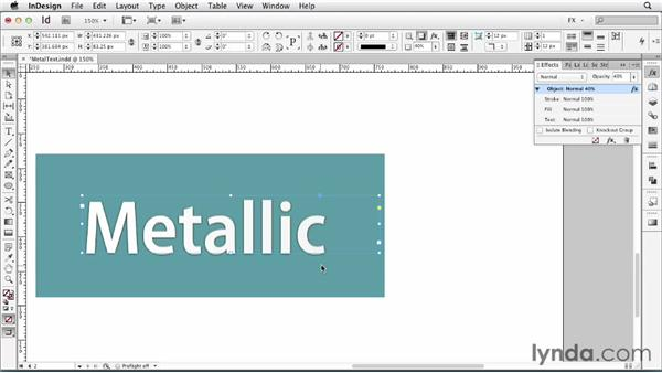 101 Creating metallic text: InDesign FX