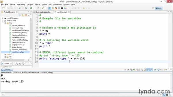 Variables and expressions: Up and Running with Python