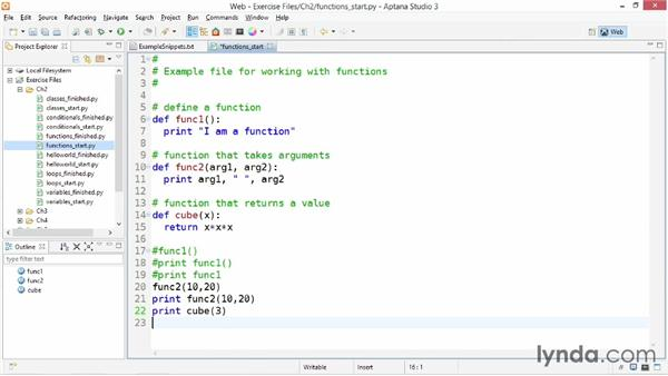 Python functions: Up and Running with Python