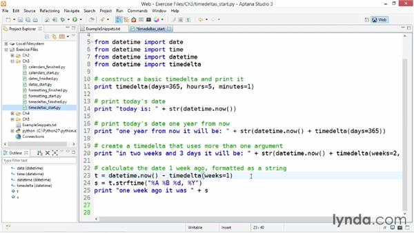 Using timedelta objects: Up and Running with Python
