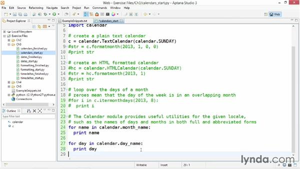 Working with calendars: Up and Running with Python