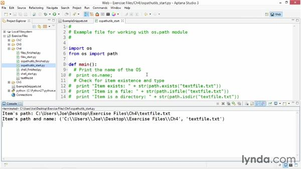 Working with OS path utilities: Up and Running with Python