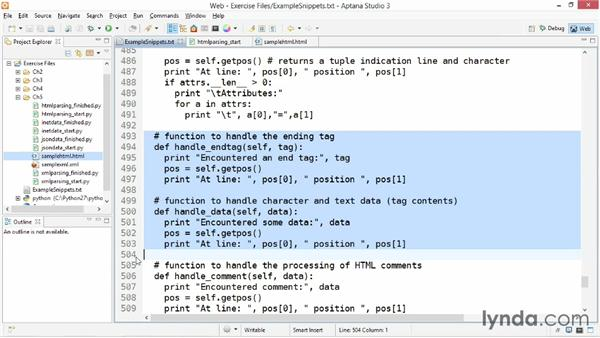 Parsing and processing HTML: Up and Running with Python