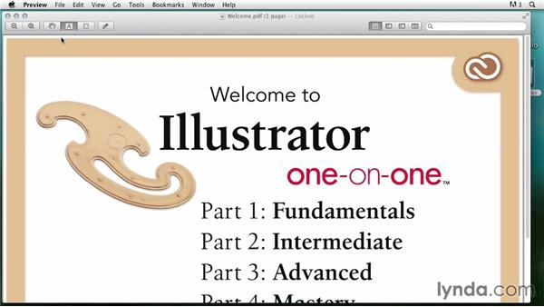 Opening from the Macintosh Finder: Illustrator CC 2013 One-on-One: Fundamentals