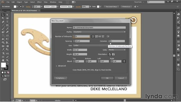 Creating a new document: Illustrator CC 2013 One-on-One: Fundamentals