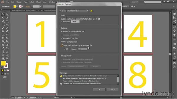 Saving changes: Illustrator CC 2013 One-on-One: Fundamentals