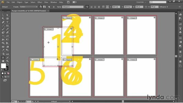 Moving and modifying artboards: Illustrator CC 2013 One-on-One: Fundamentals