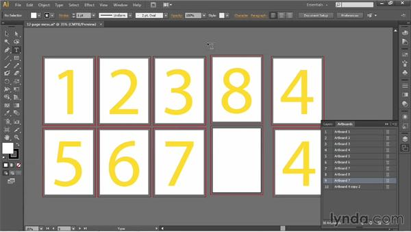 Introducing the Artboard panel: Illustrator CC 2013 One-on-One: Fundamentals