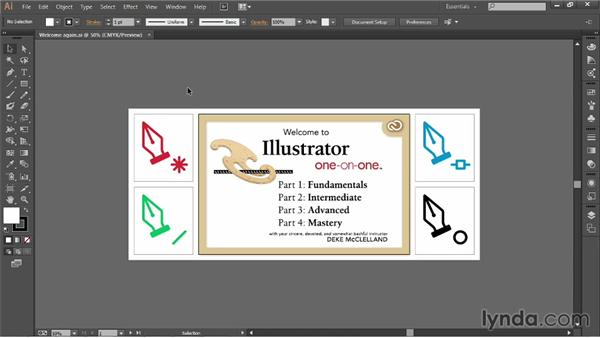 The basics of the Illustrator interface: Illustrator CC 2013 One-on-One: Fundamentals