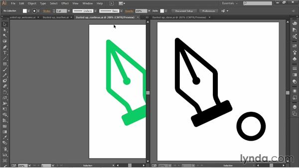Working with multiple open documents: Illustrator CC 2013 One-on-One: Fundamentals