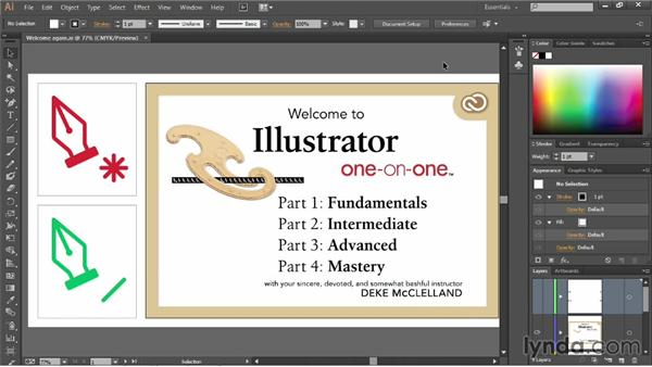 Panels and workspaces: Illustrator CC 2013 One-on-One: Fundamentals