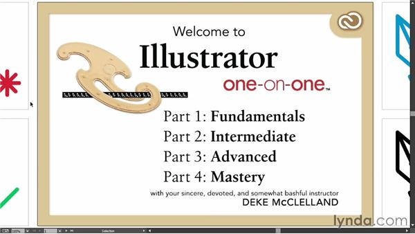 Cycling between screen modes: Illustrator CC 2013 One-on-One: Fundamentals