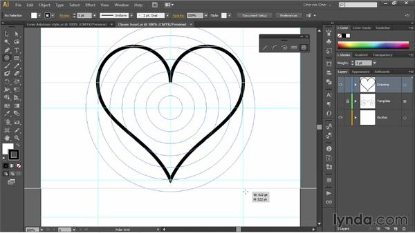 Drawing a target with the Polar Grid tool: Illustrator CC 2013 One-on-One: Fundamentals