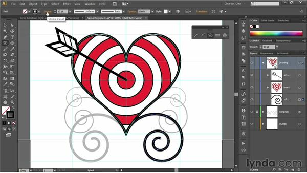Try your hand at tracing existing spirals: Illustrator CC 2013 One-on-One: Fundamentals