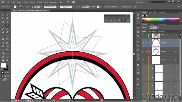 Drawing a multipoint star: Illustrator CC 2013 One-on-One: Fundamentals