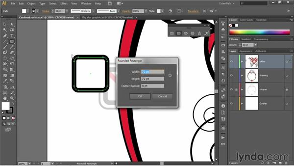 Drawing rounded rectangles: Illustrator CC 2013 One-on-One: Fundamentals