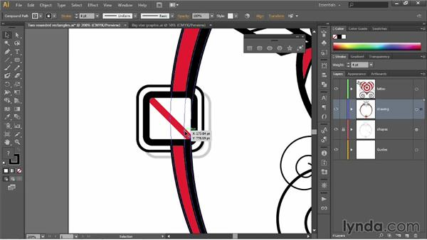 "Aligning to a ""split location"": Illustrator CC 2013 One-on-One: Fundamentals"