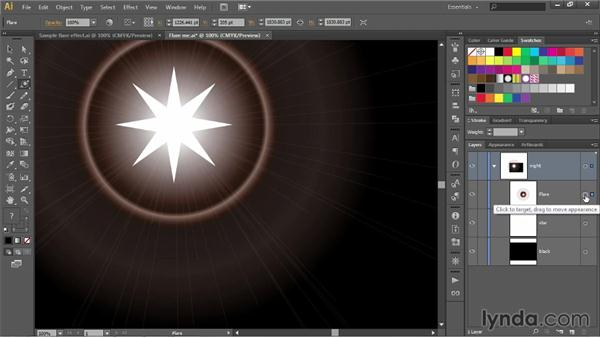 Using the Flare tool: Illustrator CC 2013 One-on-One: Fundamentals
