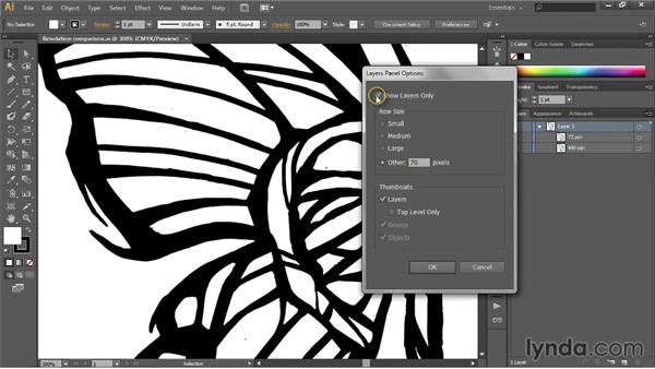 Adjusting layer previews: Illustrator CC 2013 One-on-One: Fundamentals