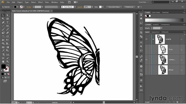 Expanding and simplifying traced paths (CC 2014): Illustrator CC 2013 One-on-One: Fundamentals
