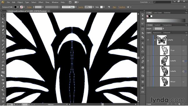 Flipping and fusing shapes: Illustrator CC 2013 One-on-One: Fundamentals