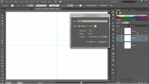 Creating a tracing template: Illustrator CC 2013 One-on-One: Fundamentals