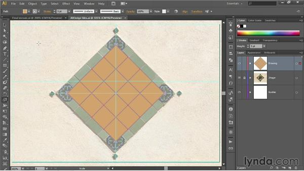 Using the Scale tool: Illustrator CC 2013 One-on-One: Fundamentals