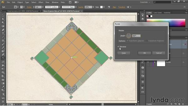 Rotating and duplicating: Illustrator CC 2013 One-on-One: Fundamentals
