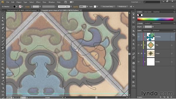 Reflecting across an angled axis: Illustrator CC 2013 One-on-One: Fundamentals