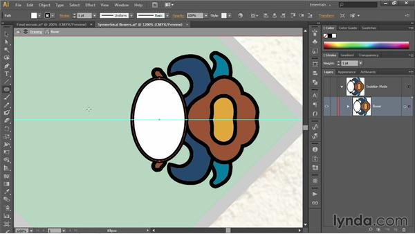 Working in the Group Isolation mode: Illustrator CC 2013 One-on-One: Fundamentals
