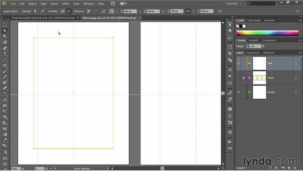 Creating page margins: Illustrator CC 2013 One-on-One: Fundamentals
