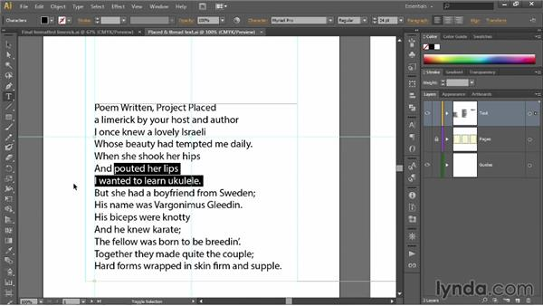 Selecting words and lines of type: Illustrator CC 2013 One-on-One: Fundamentals
