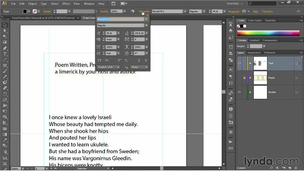 Working with point text: Illustrator CC 2013 One-on-One: Fundamentals