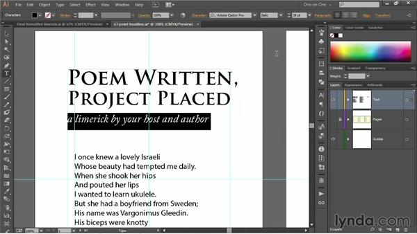 Leading and paragraph indent: Illustrator CC 2013 One-on-One: Fundamentals