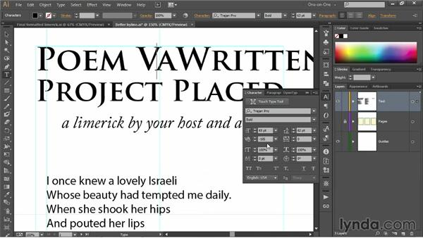 Pair kerning and tracking: Illustrator CC 2013 One-on-One: Fundamentals