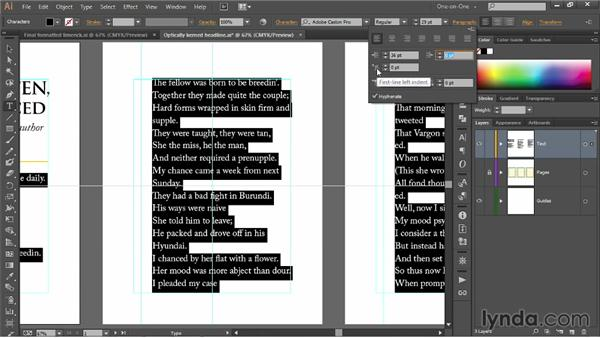 Hanging indents and paragraph spacing: Illustrator CC 2013 One-on-One: Fundamentals