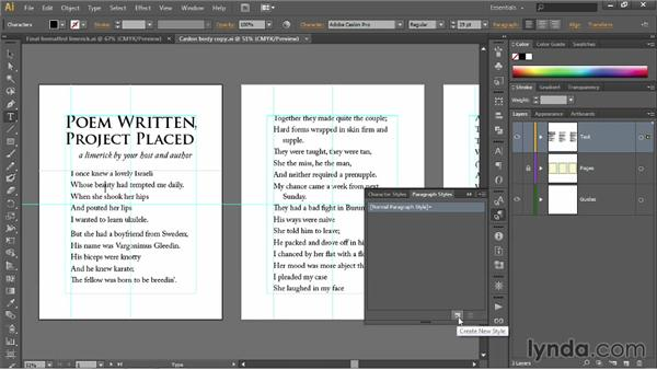 Creating and applying paragraph styles: Illustrator CC 2013 One-on-One: Fundamentals