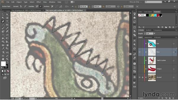 Editing a path as you draw it: Illustrator CC 2013 One-on-One: Fundamentals